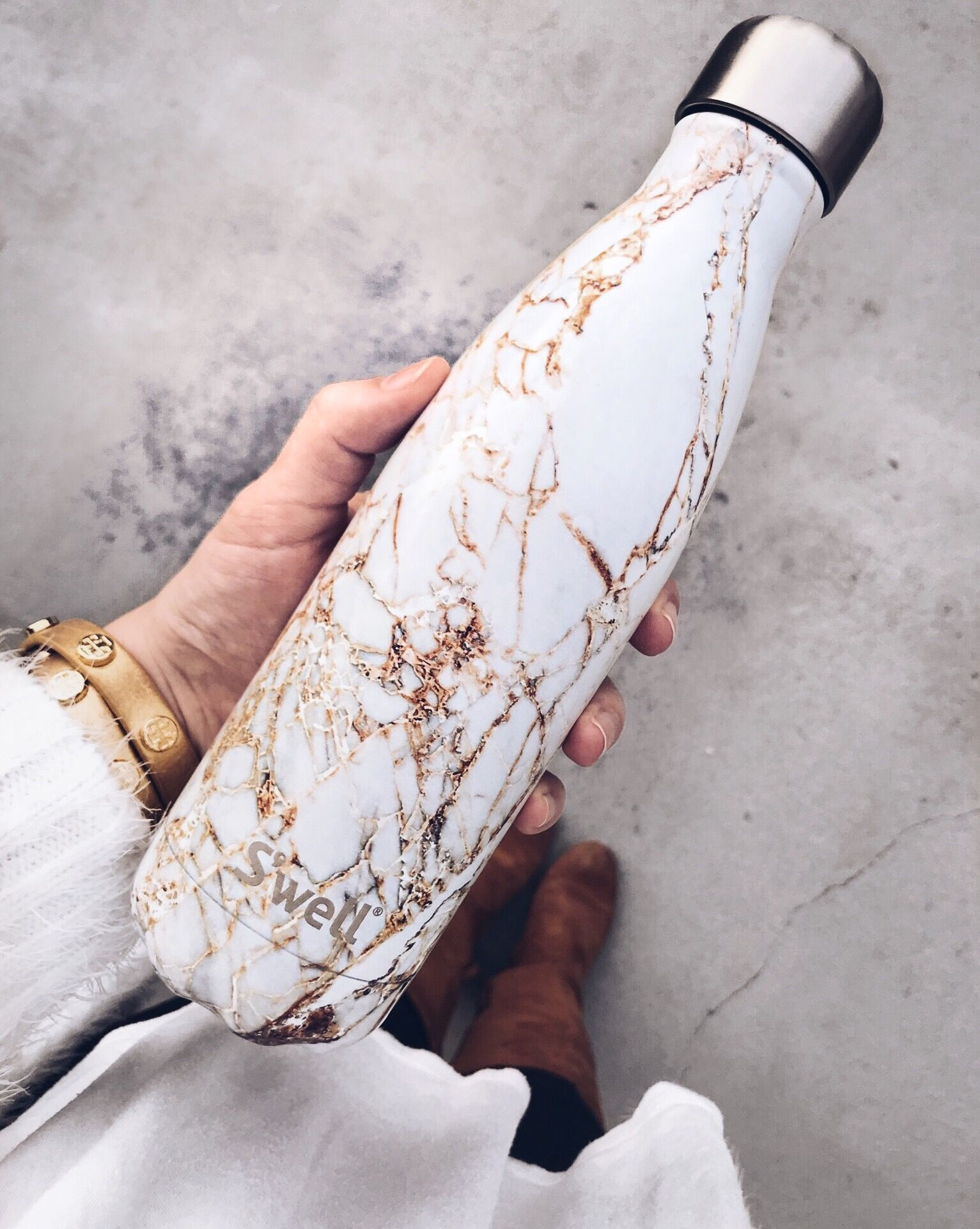 The Perfect S Well Bottle In A Marble Print To Make