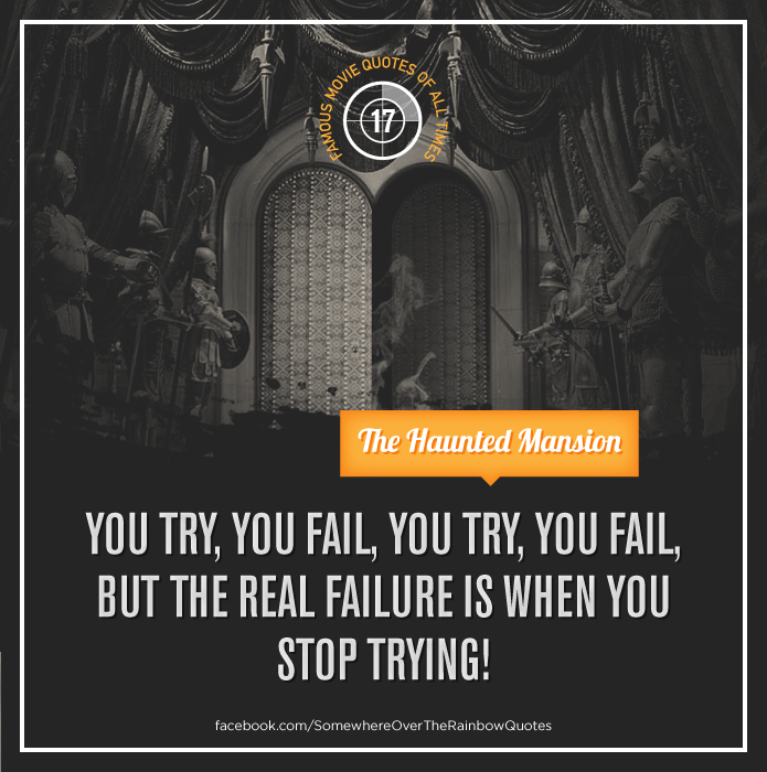 """Inspirational Quotes About Failure: """"You Try, You Fail, You Try You Fail, But The Real Failure"""
