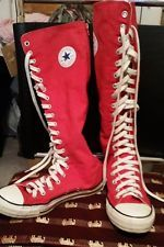 Converse Chuck Taylor All Star Knee high red sneakers mens 7 womans ... c7085e118