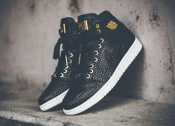 buy online ccf07 36b8b Air Jordan 1 High Pinnacle 24K Gold 'Black Snake' post image   Shoe ...