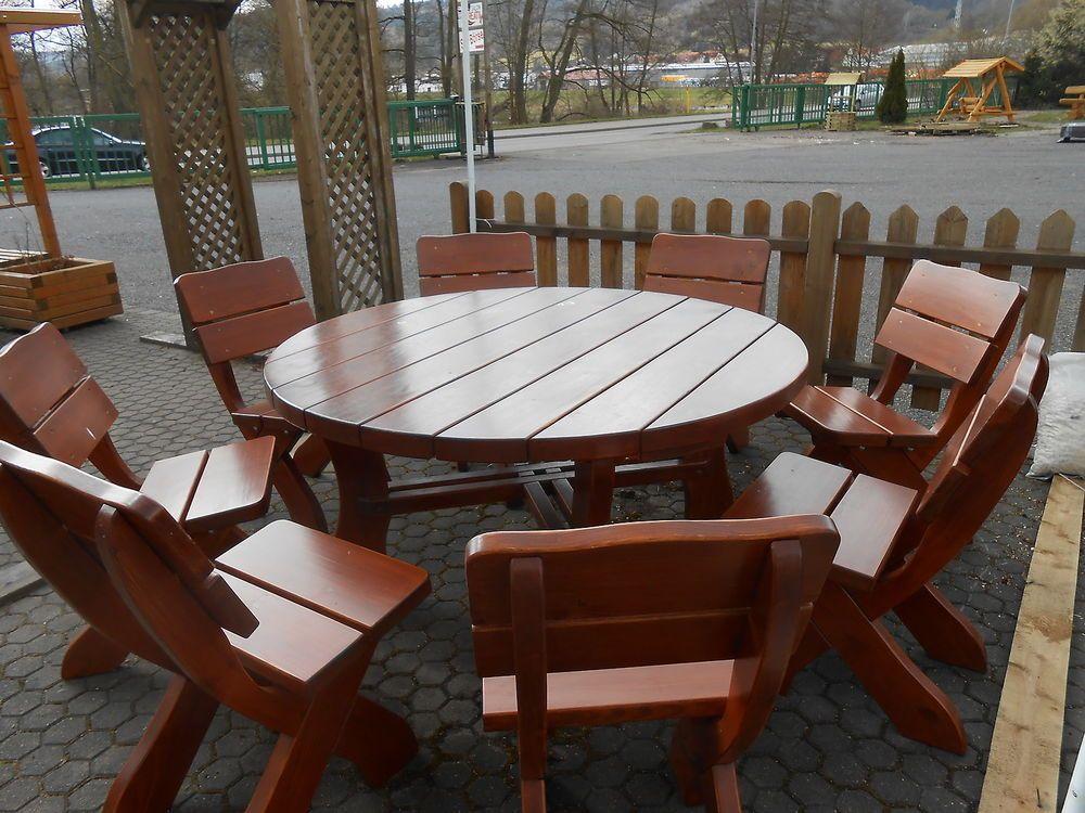 exklusive Sitzgruppe, Gartenmöbel, Gartengarnitur aus Holz ähnliche ...