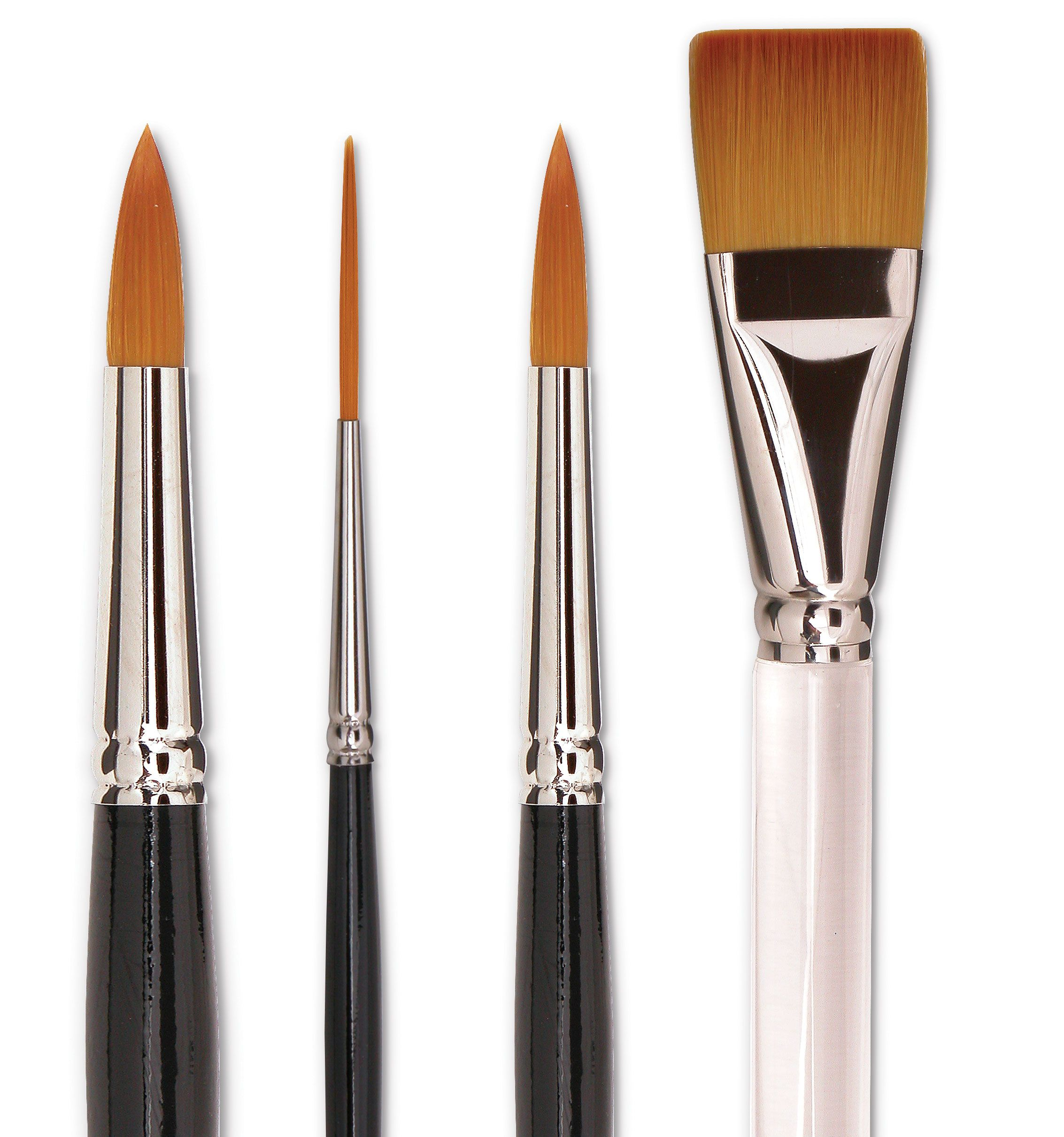 With these brushes though, the brush holds its shape, and