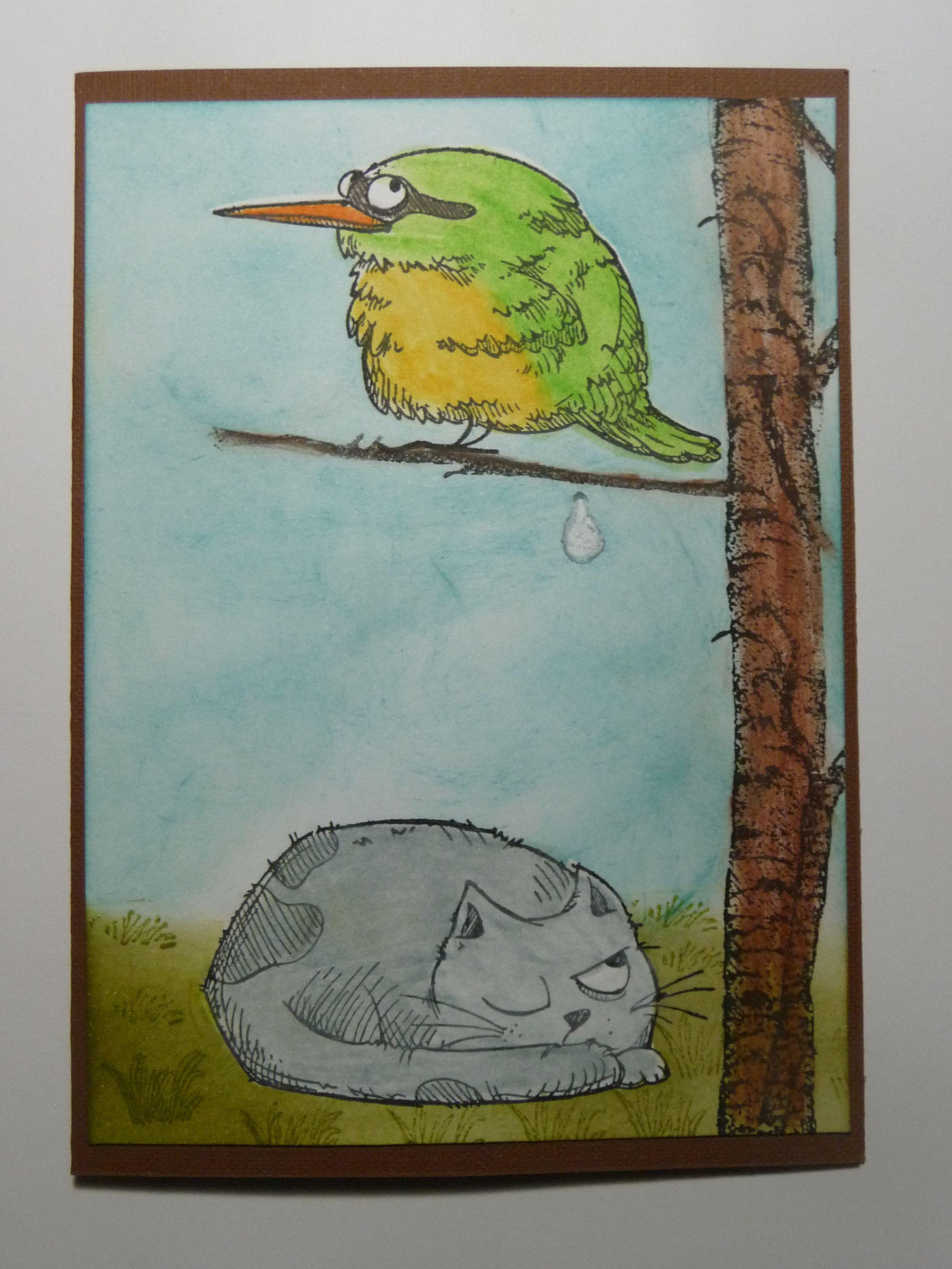 Katzelkraft cat + bird, made by Enny