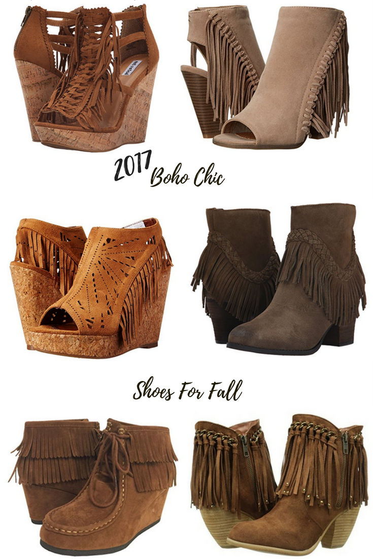 c85c967f80df 6 Trendy Boho Chic Fringe Shoes for Fall 2017. Affordable. Shop these  styles.