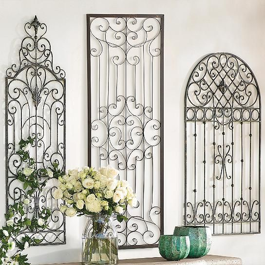 Gisele Iron Wall Artwork Front Porch Iron Wall Art Iron Wall