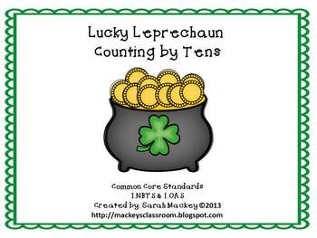 Lucky Leprchaun Counting By Tens Cc 1 Nbt 5 1 Oa 5 1st Grade