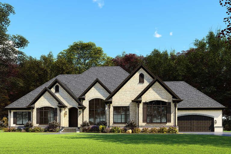 House Plan 8318 00164 European Plan 3 274 Square Feet 3 Bedrooms 2 5 Bathrooms French Country House Plans Luxury House Plans Craftsman House Plans