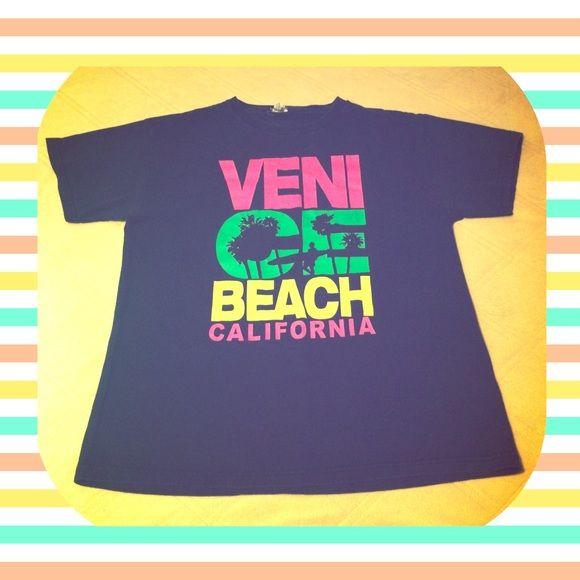 "Selling this ""Black VENICE BEACH CALIFORNIA T-Shirt size medium!"" in my Poshmark closet! My username is: sunflower1514. #shopmycloset #poshmark #fashion #shopping #style #forsale #Delta Pro Weight #Tops"