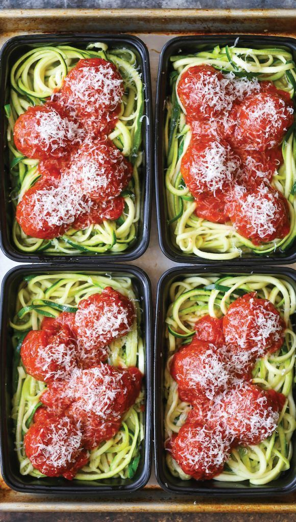 Zucchini Noodles with Turkey Meatballs images