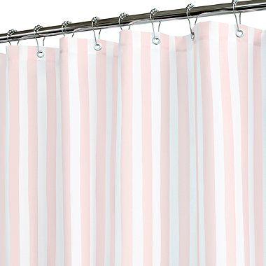 Tranquil Stripe Pink and White Shower Curtain   BedBathandBeyond comTranquil Stripe Pink and White Shower Curtain   BedBathandBeyond  . Pink And White Striped Shower Curtain. Home Design Ideas