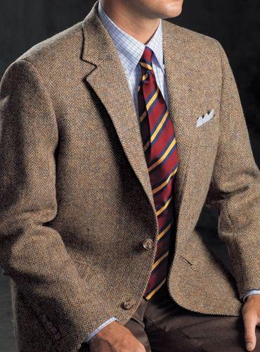 f1625b15043f Dusty Blue and Beige Herringbone Harris Tweed Sport Coat