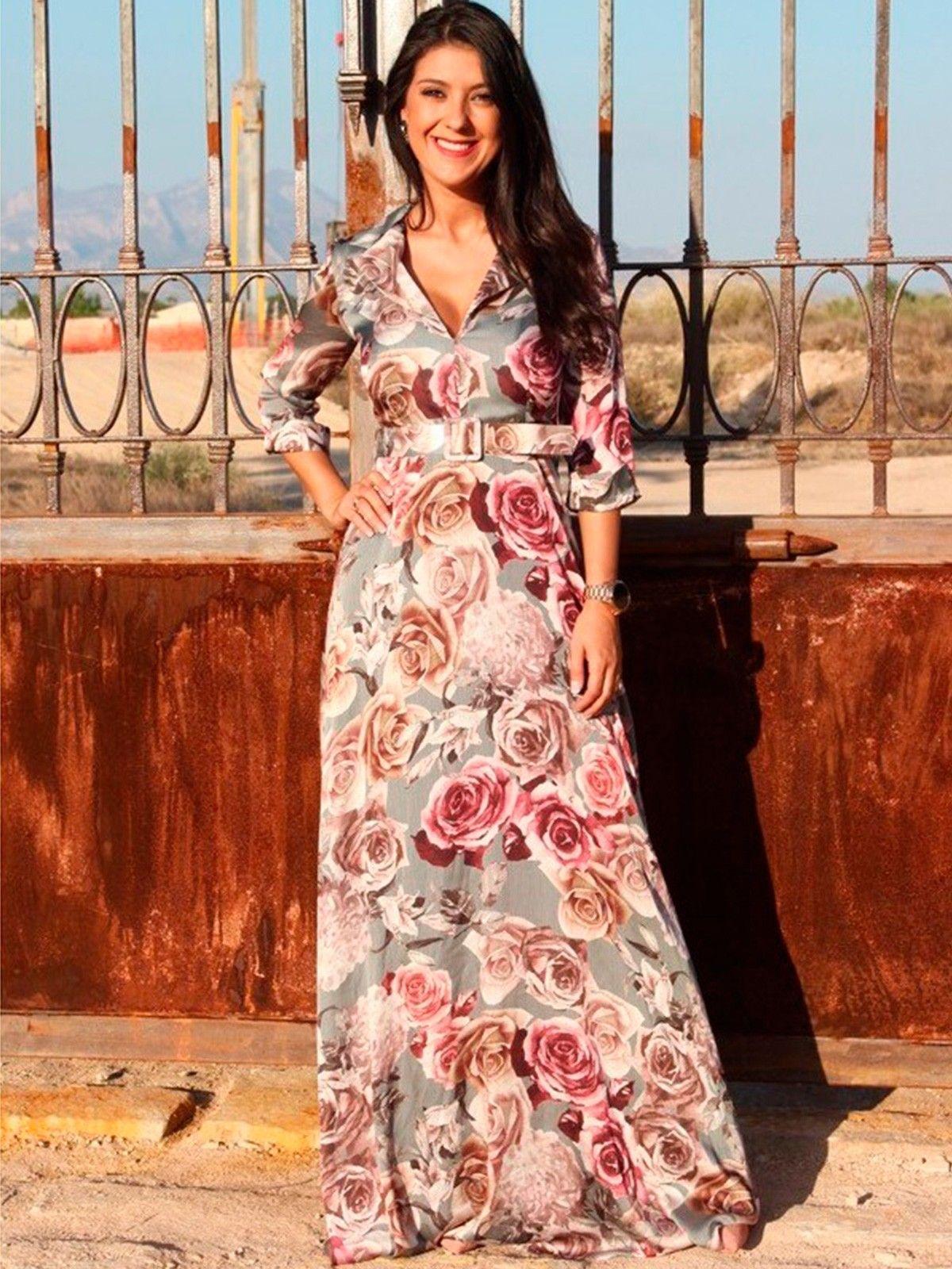 966409660 Vestido Aldana - Vestido largo