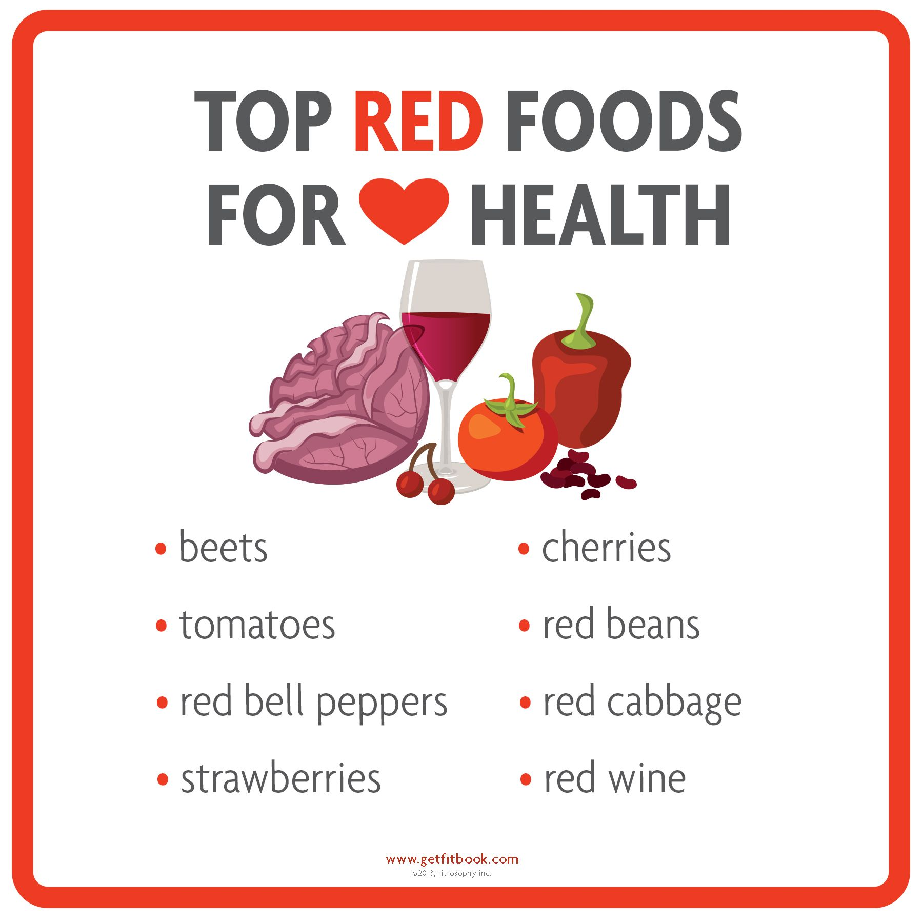 Get Fit Go Red Top Red Foods For