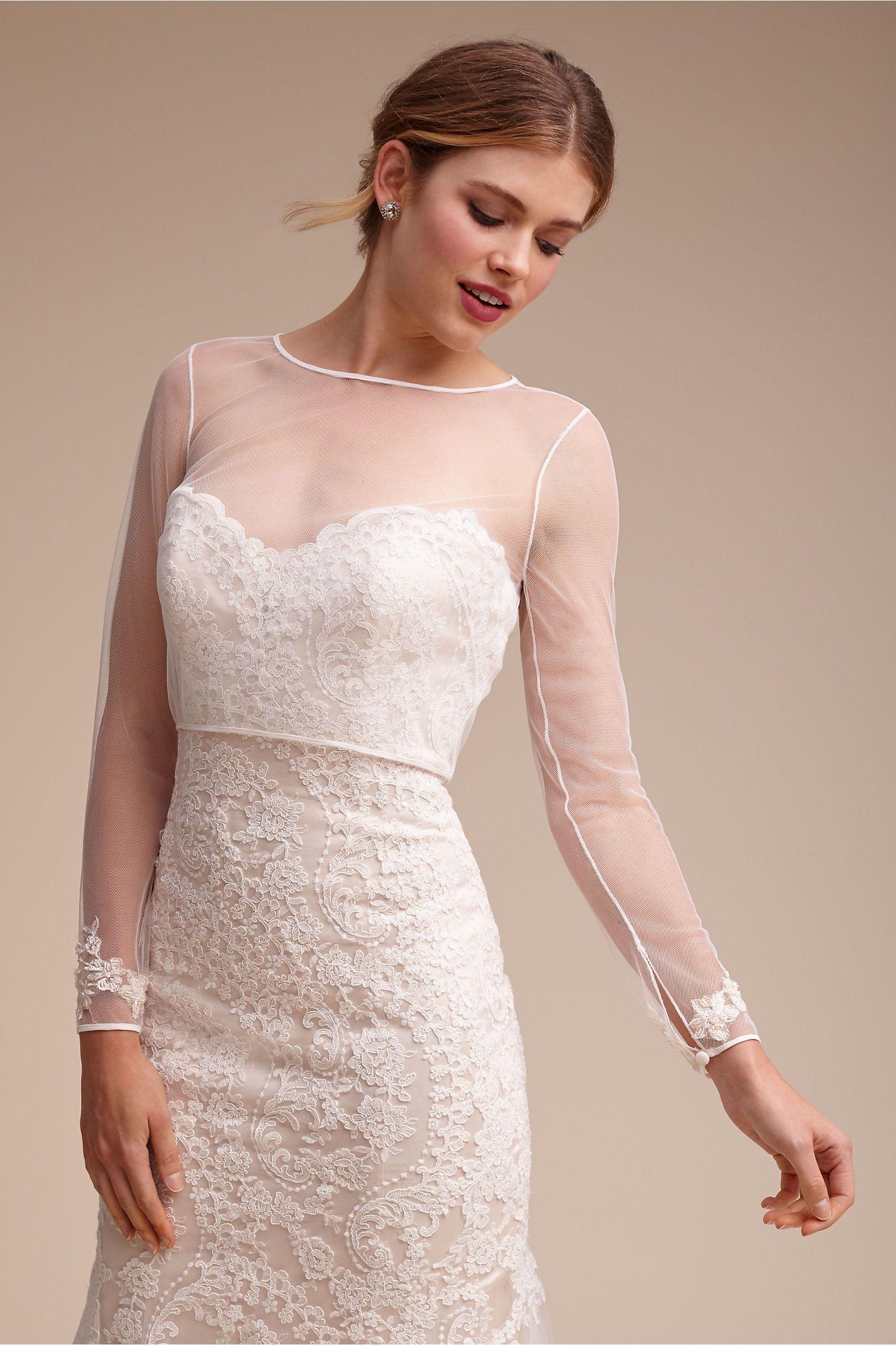 Leigh Gown Ivory Cream In Bride Bhldn Dress Topper Wedding Dress Topper Wedding Dress Long Sleeve