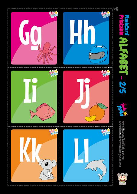 Download Gratis Alfabet Flashcard Printable (Indonesia