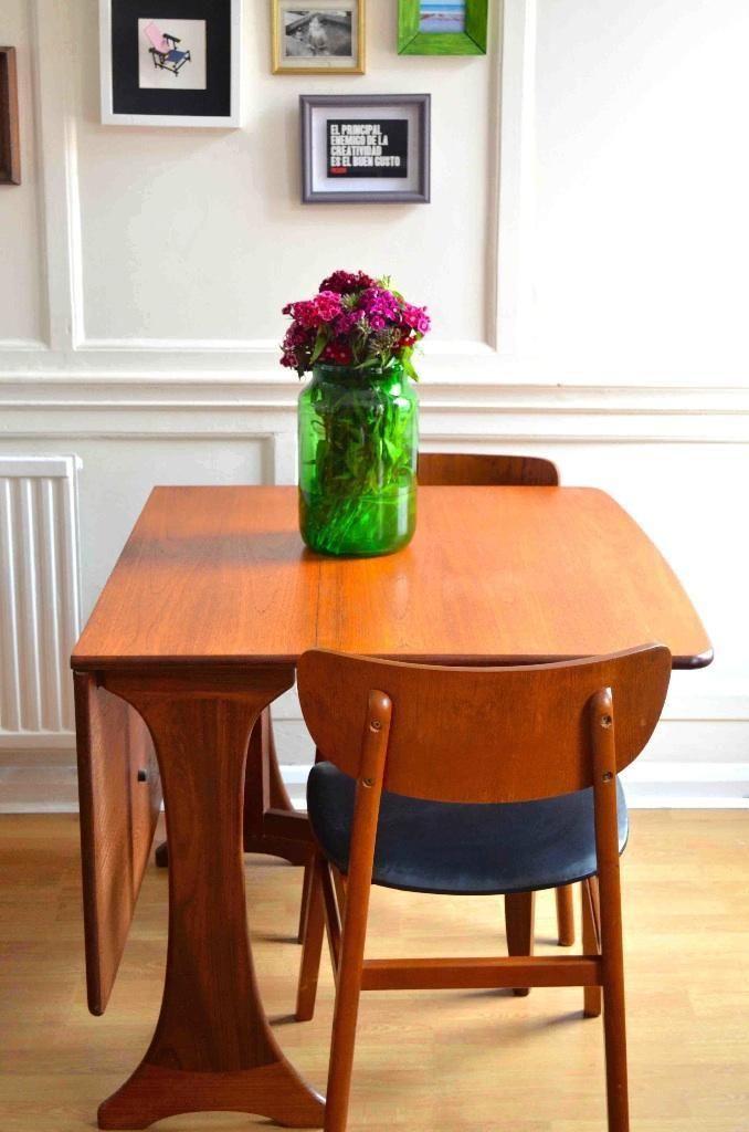 Vintage G Plan Drop Leaf Table And 4 Danish Style Teak