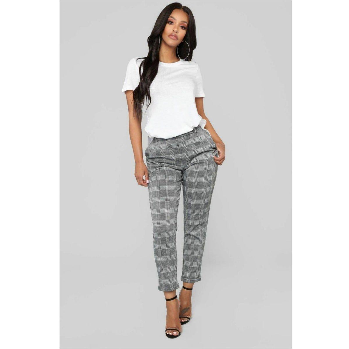 Fashion Nova Plaid Pants Black And White Pants Black Dress Pants Outfits Pants Outfit Work [ 1200 x 1200 Pixel ]