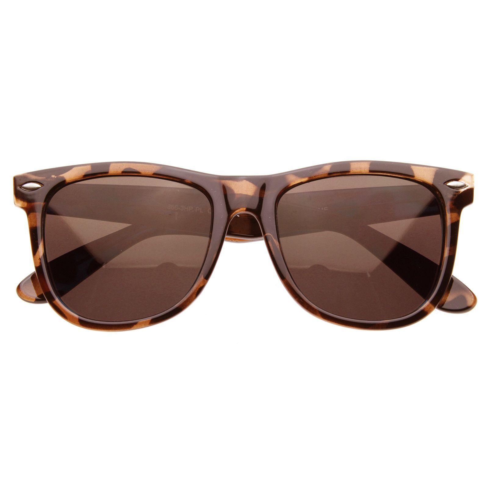 Classic Large Polarized Lens Horned Rim Sunglasses 6105   Óculos e ... 93be0762d1