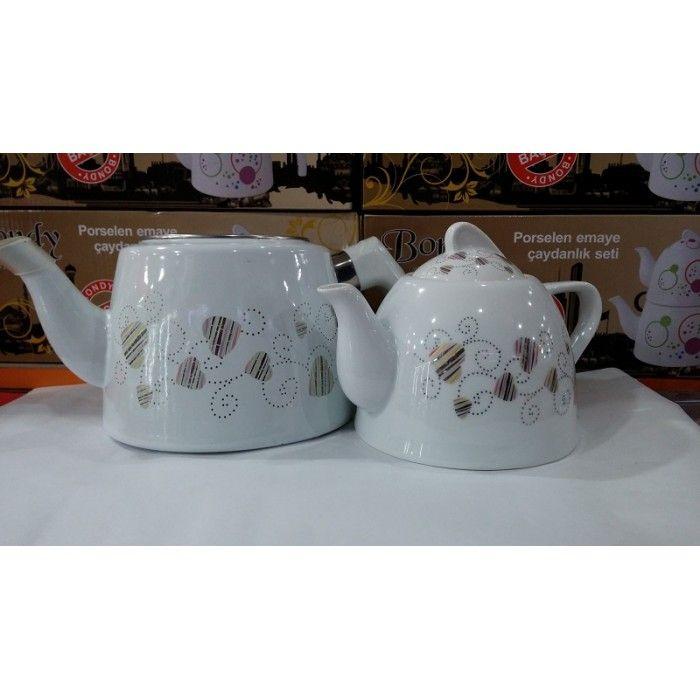 Porselen Çaydanlık Seti (Gümüşlü)  https://www.aldimhemen.com/porselen-caydanlik-seti-gumuslu