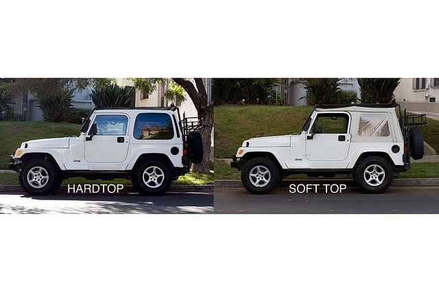 Jeep Wrangler Sahara Tj 2000 White Hardtop White Soft Top Sahara