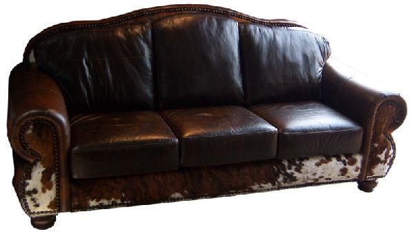 Cowhide Sofa Brown Sofas, Cowhide Western Furniture Reviews