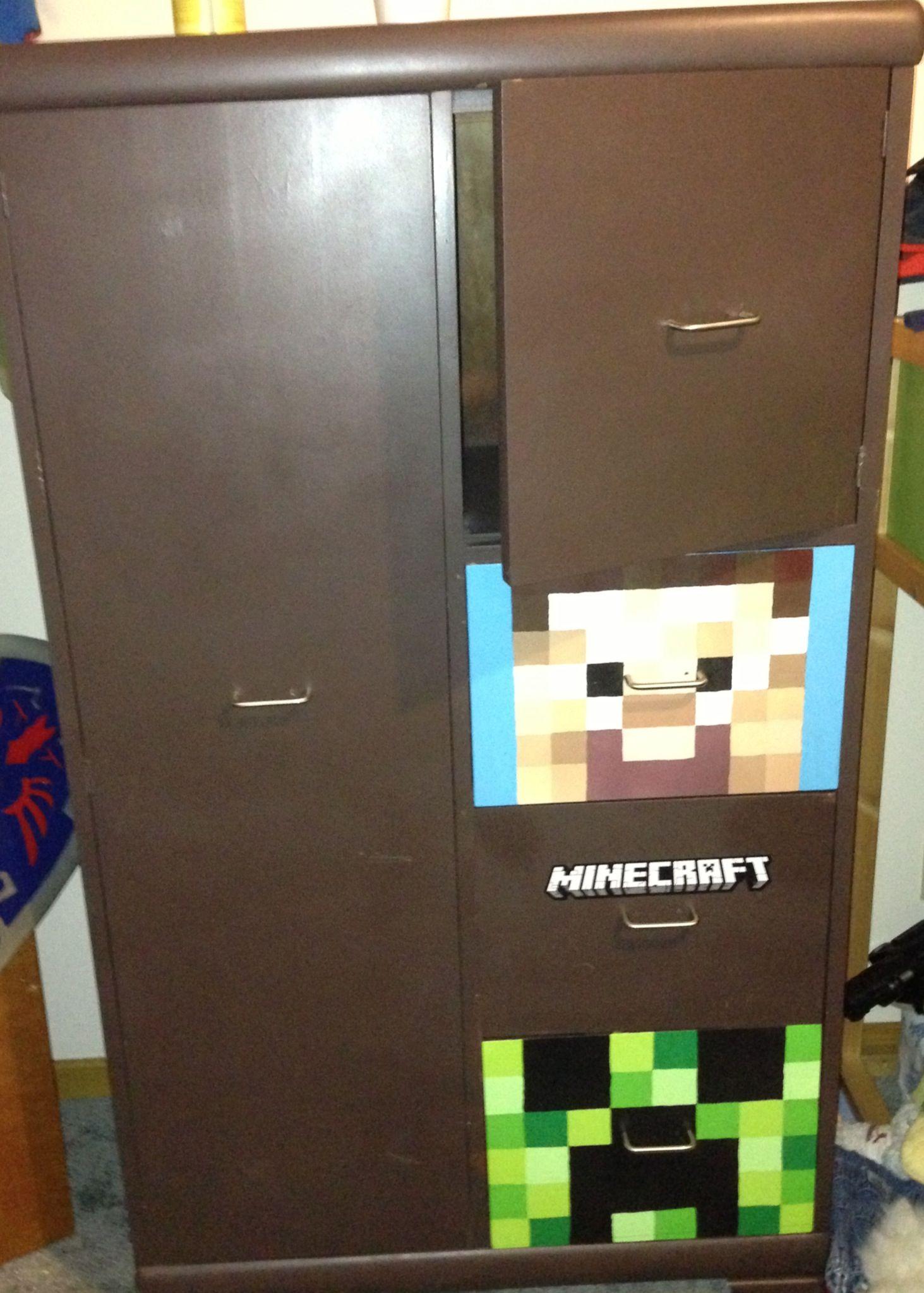 Minecraft dresser I painted Kid rooms Pinterest