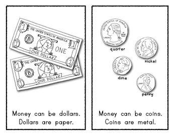 MONEY Emergent Reader for Kindergarten: Social Studies