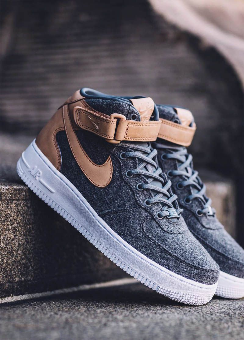 Felt X Leather Air Force 1 07 Mid Premium