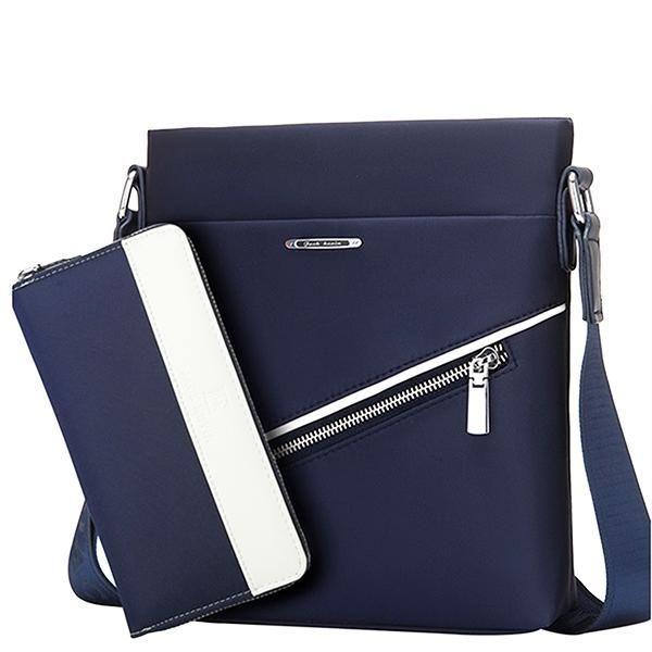 JackKevin Mens Messenger Bag and Wallet Set  d4ef89f9114c4