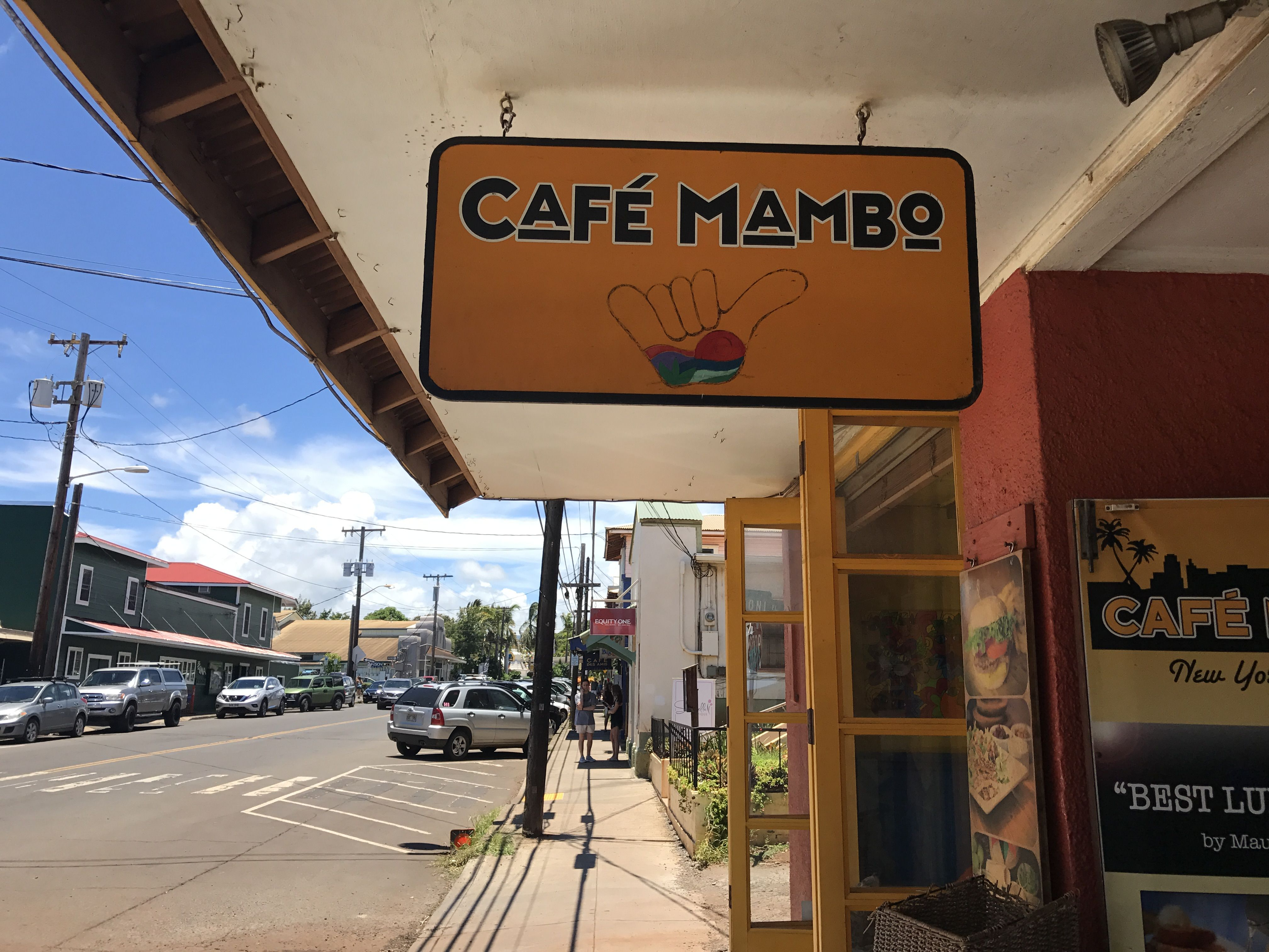 Visit Cafe Mambo in Paia Maui for great food and drinks  Paia Maui
