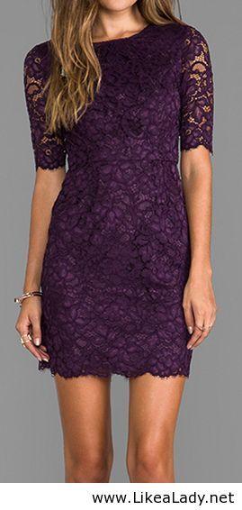 Plum lace dress-another bridesmaid | Vestidos | Pinterest | Plum ...