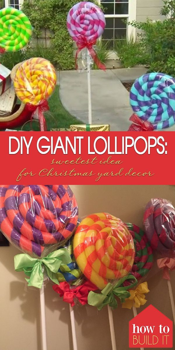Photo of DIY Giant Lollipops: Sweetest Idea For Christmas Yard Decor   How To Build It   Christmas Dec…