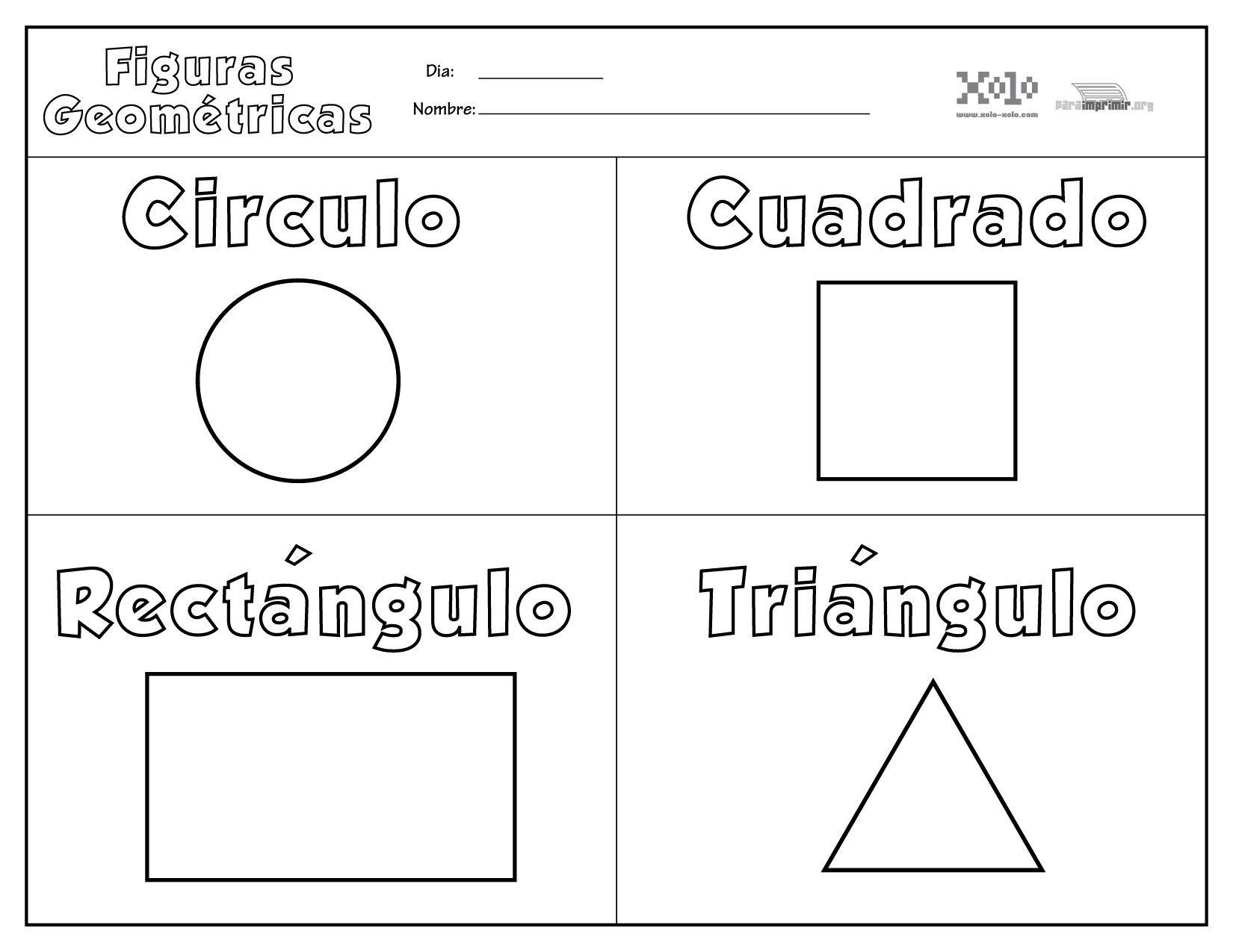Las Figuras Geometricas Para Ninos Para Colorear Buscar Con
