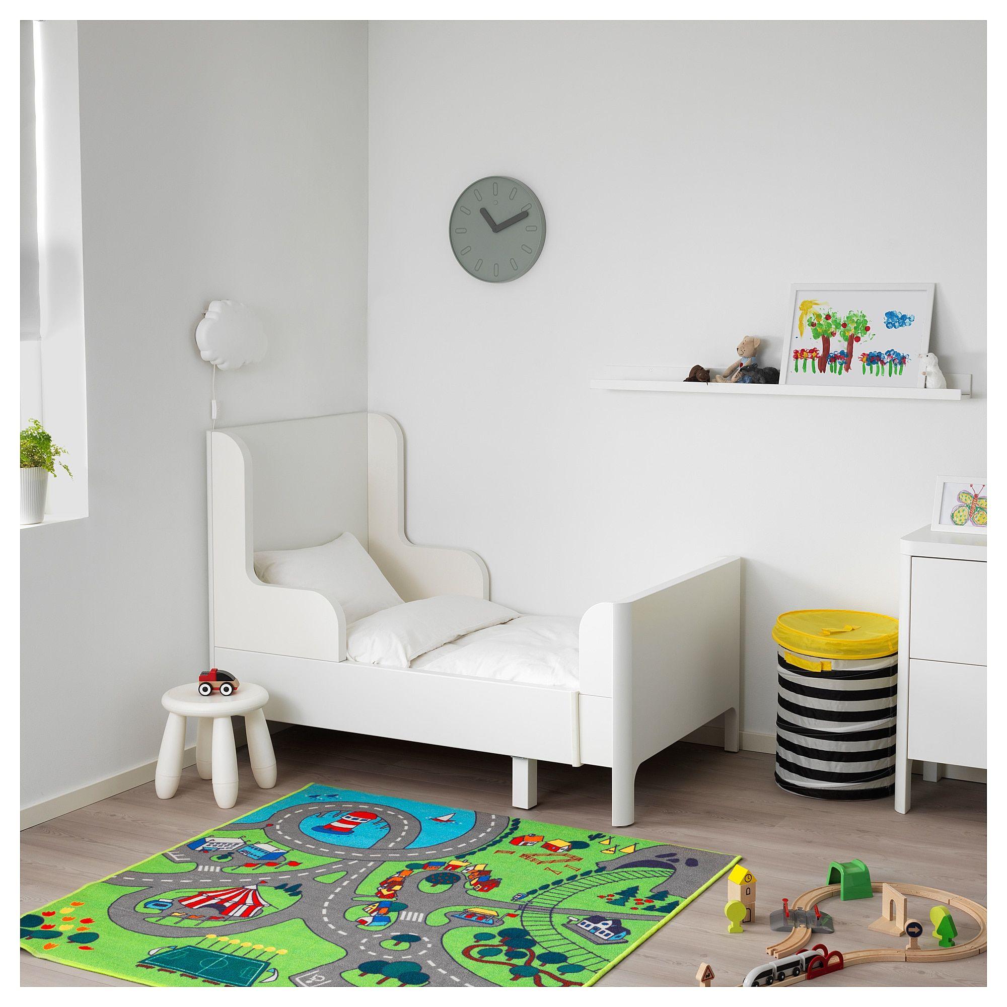 IKEA - BUSUNGE Extendable bed white | Ikea kids bed, Ikea ...