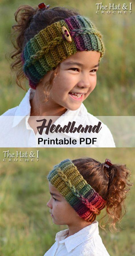 Make a cozy headband. headband crochet pattern- ear warmer crochet pattern pdf -… – Hetty J. #hochzeitskleiderhäkeln