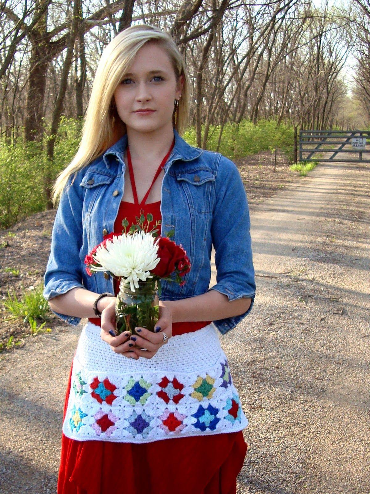 free crochet pattern grannys market apron | CROCHET FUN | Pinterest ...