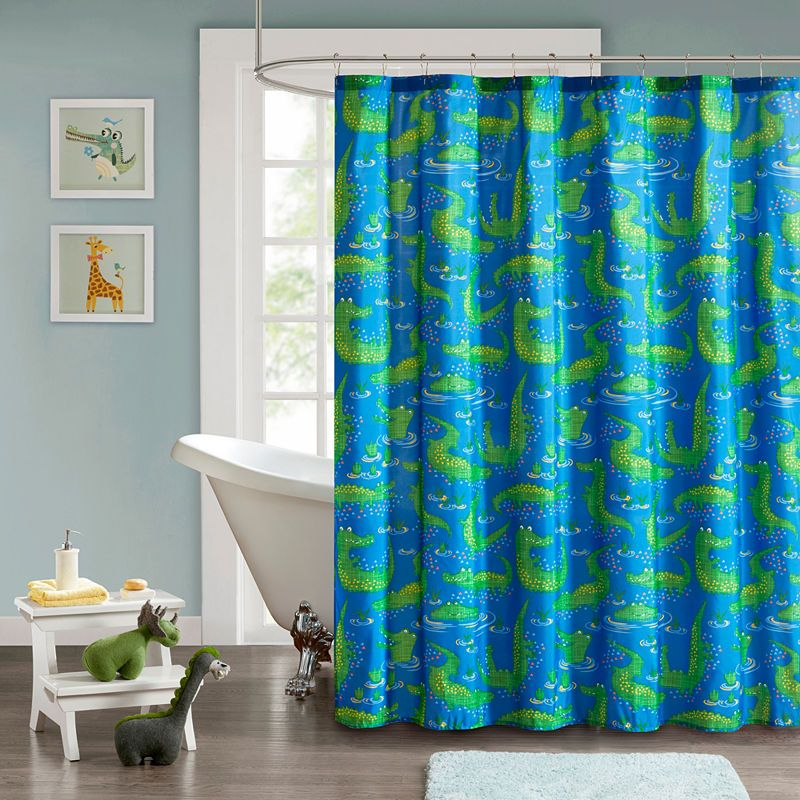 Later Alligator Shower Curtain Printed Shower Curtain Home