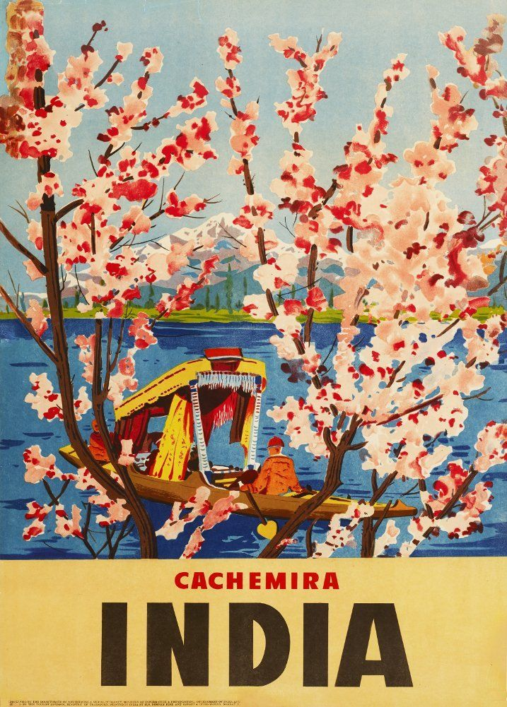 Vintage Travel INDIA for CACHEMIRA 250gsm Gloss ART CARD A3