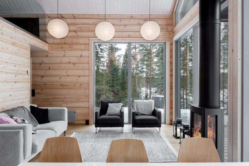 Modern Log Villa in Central Finland by