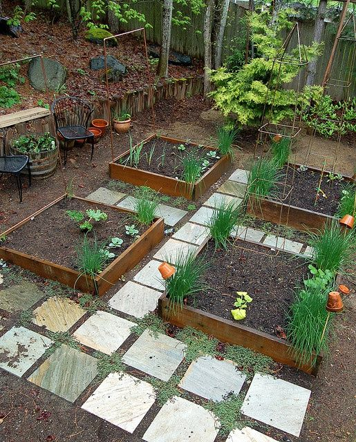 Pavers Between Raised Bed - Google Search