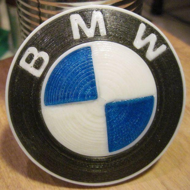 3D Printed BMW Roundel | 3D Car Parts | Bmw, 3d printing