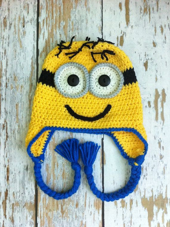 Despicable Me Minion hat 0-5T | crochet | Pinterest | Gorros, Gorro ...