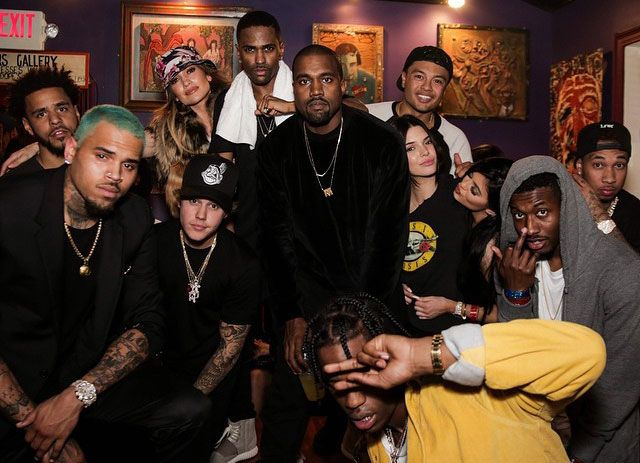 Big Sean Brings Out Kanye West J Cole Meek Mill At L A Show Big Sean Chris Brown Justin Bieber