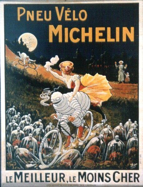 classic poster, Bibendium, or the Michelin Man