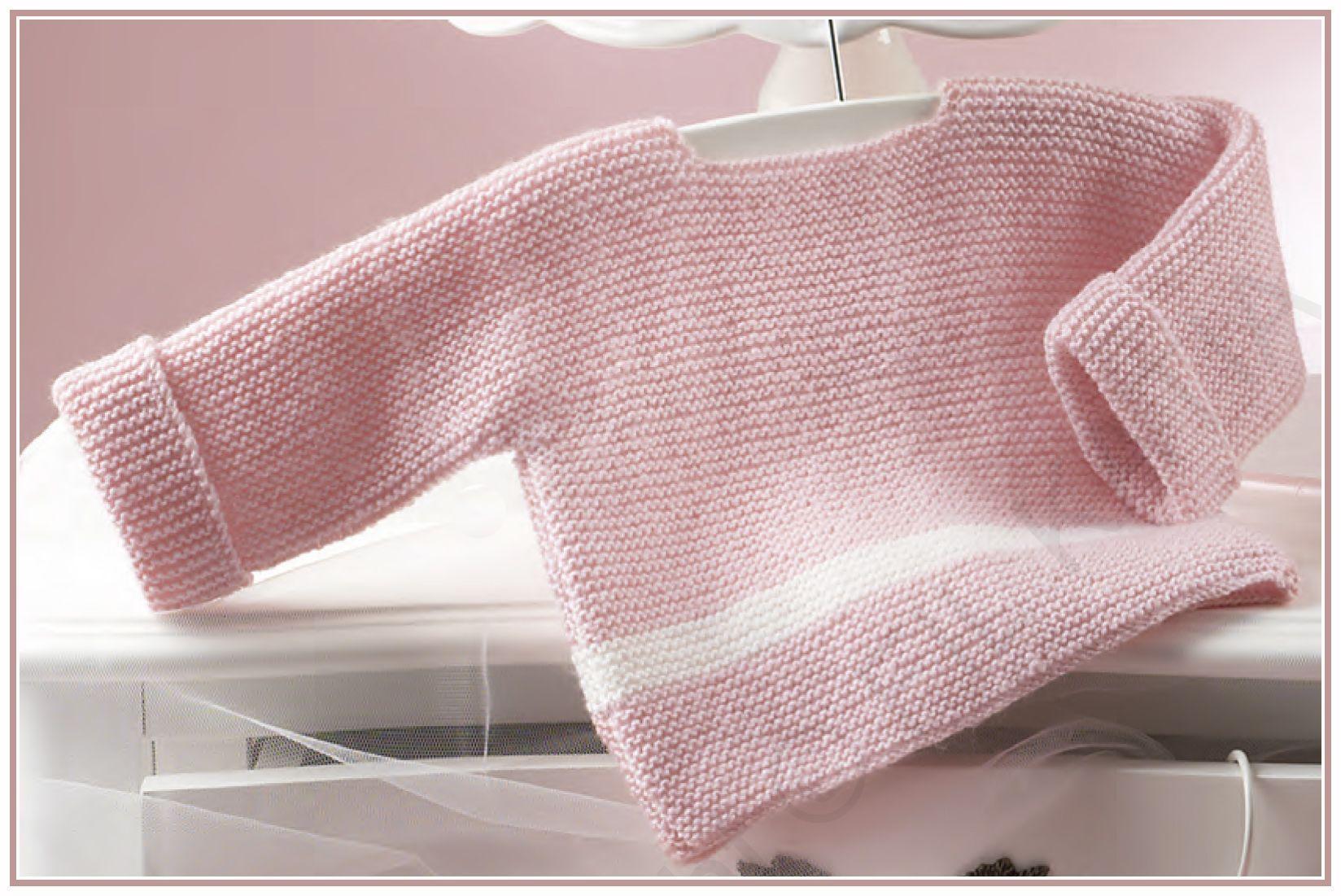 katia dos bebé a agujas jersey patrones sencillo de Punto P1W0Iqx
