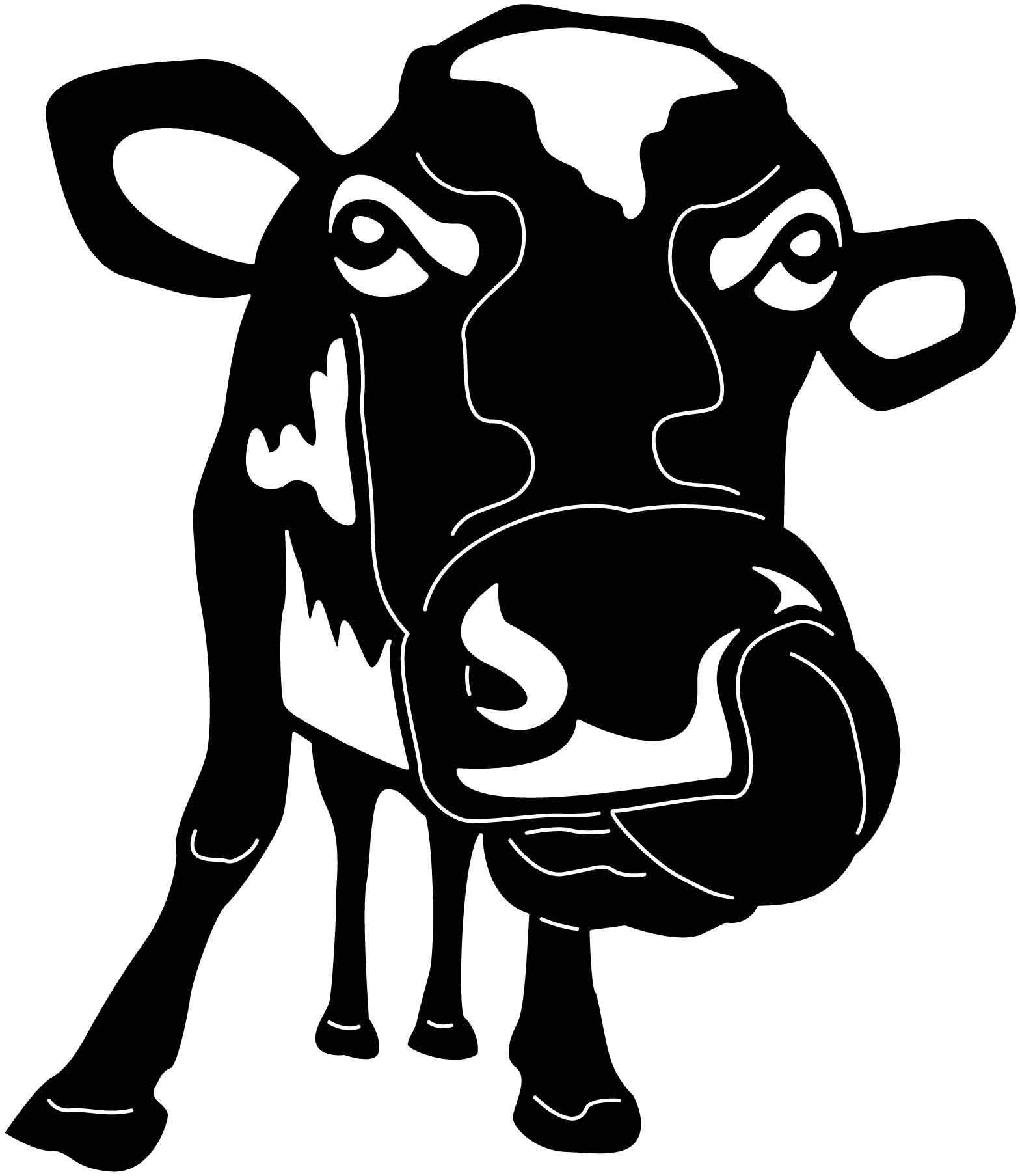 Funny crazy happy cow free dxf file happy cow cow