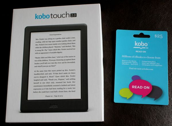 Enter To Win A Kobo Touch 2 0 And A 25 Gift Card Canada Only 5 Reasons A Kobo Ereader Is A Perfect Gift For Anyone Kobo Ereader Giveaway Contest 25th Gifts