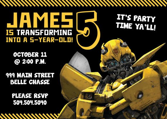 transformers bumblebee birthday