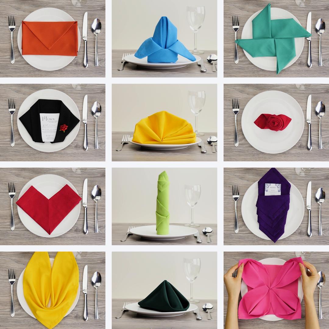 12Formas fascinantes para doblar servilletas.