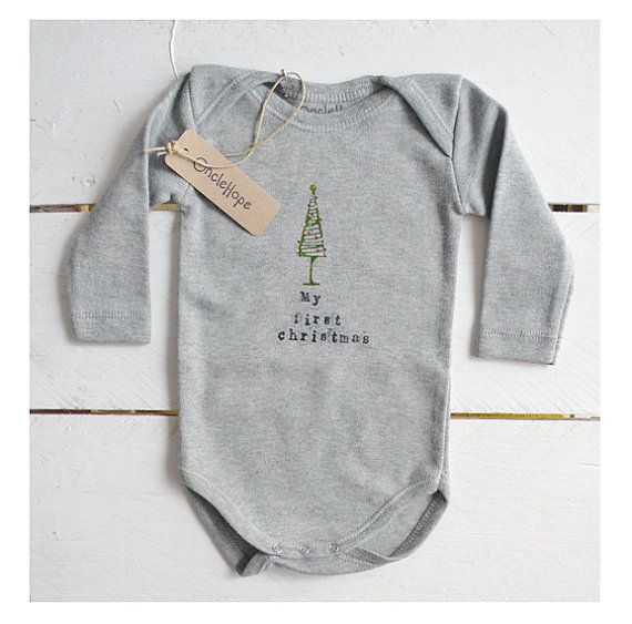 MY FIRST CHRISTMAS  Bodysuit for babies in softest by OncleHope, $24.00